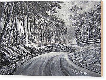 Strollling Down Old Rapidan Road Wood Print
