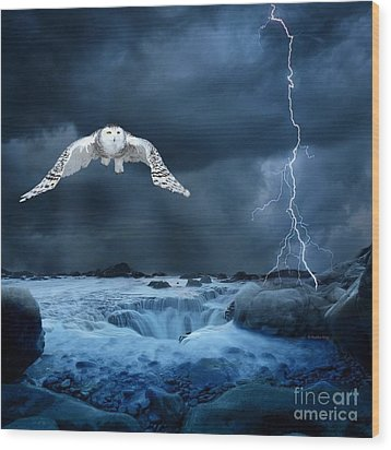 Stronger Than The Storm Wood Print by Heather King