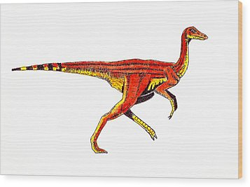 Struthiomimus Wood Print by Michael Vigliotti