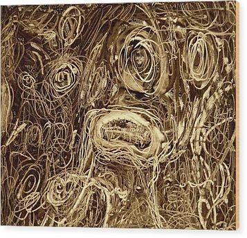 Stuck In The Night Wood Print
