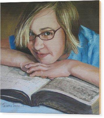 Study Break Wood Print by Jeanne Rosier Smith