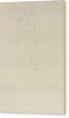Study For Adele Bloch Bauer II Wood Print