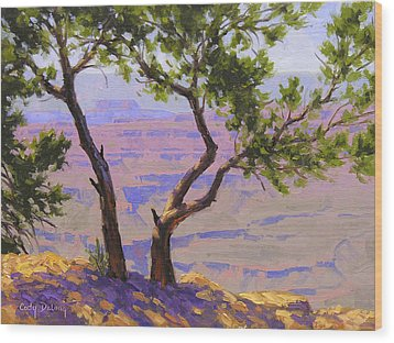 Study For Canyon Portal Wood Print by Cody DeLong