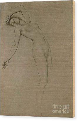 Study For Clyties Of The Mist Wood Print by Herbert James Draper