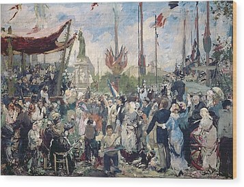 Study For Le 14 Juillet 1880 Wood Print by Alfred Roll