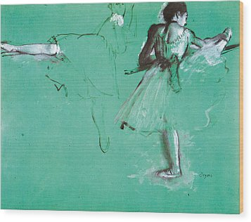 Study For Two Dancers At The Bar Wood Print by Edgar Degas
