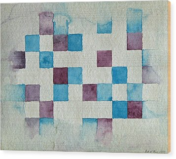 Study In Blue And Violet Wood Print