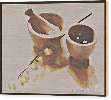 Wood Print featuring the digital art Study In Brown by Alexis Rotella