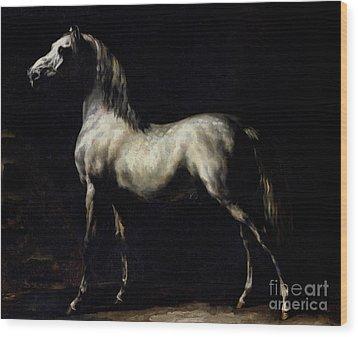 Study Of A Dapple Grey Wood Print by Theodore Gericault