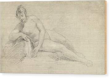 Study Of A Female Nude  Wood Print by William Hogarth