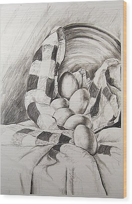Study Of Value And Texture No. 1 Wood Print by Amy Williams