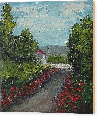 Wood Print featuring the painting Study Provence Roses by Fred Wilson