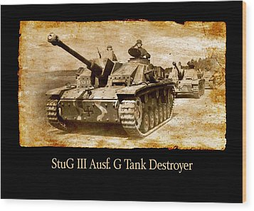 Wood Print featuring the digital art Stug IIi Ausf G Tank Destroyer by John Wills
