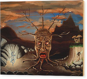 Stump Head Wood Print by Chris Benice