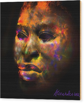 Stunning African Mask  Wood Print