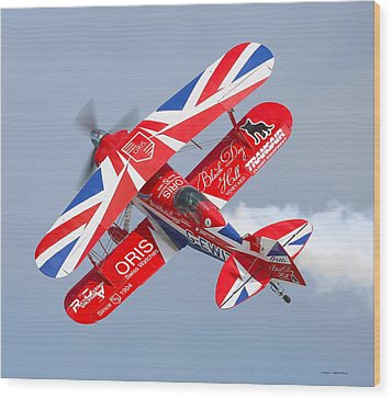 Wood Print featuring the photograph Stunt Plane by Roy  McPeak
