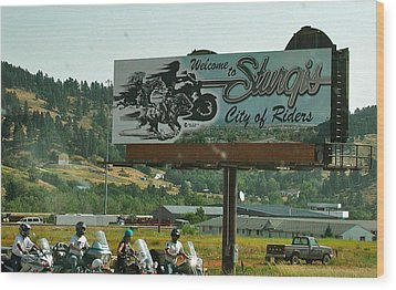 Sturgis City Of Riders Wood Print by Anna Ruzsan