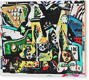 Submarine Sillies Wood Print by Mindy Newman