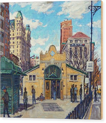 Subway At 72nd Street Nyc Wood Print by Thor Wickstrom