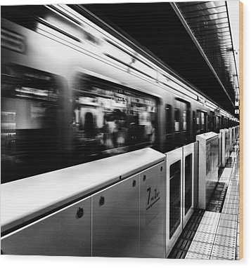 Subway Wood Print