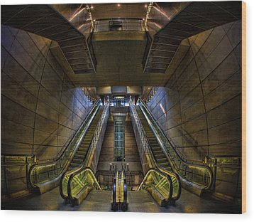 Wood Print featuring the photograph Subway by Stefan Nielsen