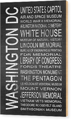 Subway Washington Dc 2 Wood Print by Melissa Smith