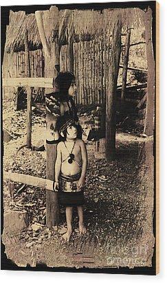 Wood Print featuring the photograph Sucua Kids 895 by Al Bourassa