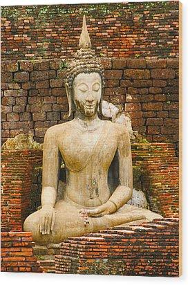 Sucuthai Buddha Wood Print by Rob Tullis