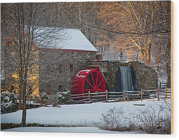 Sudbury Gristmill Wood Print by Susan Cole Kelly