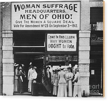 Suffrage Headquarters Wood Print by Granger