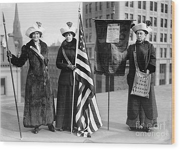 Suffragettes, C1910 Wood Print by Granger