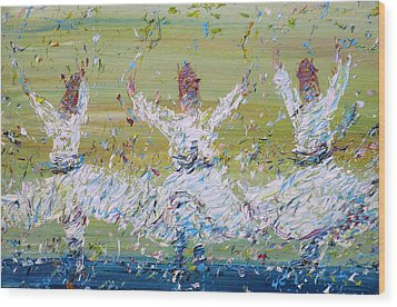 Sufi Whirling Wood Print by Fabrizio Cassetta