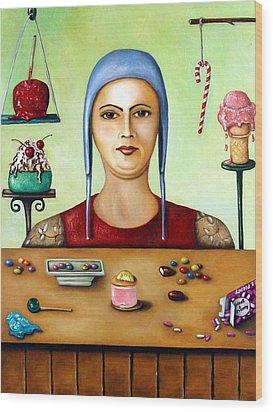 Sugar Addict Wood Print by Leah Saulnier The Painting Maniac