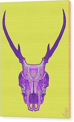 Sugar Deer Wood Print