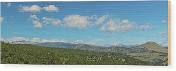 Wood Print featuring the photograph Sugar Magnolia Summer Rocky Mountain Peaks Panorama View by James BO Insogna