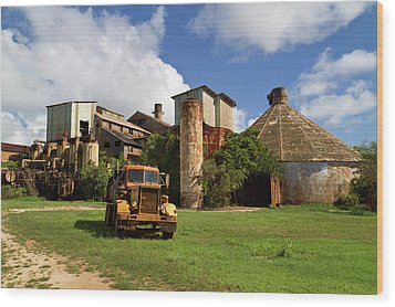 Sugar Mill And Truck Wood Print by Roger Mullenhour