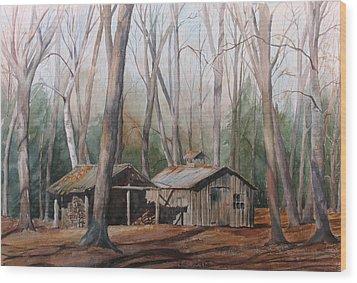 Sugar Shack Wood Print by Debbie Homewood