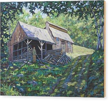 Sugar Shack In July Wood Print by Richard T Pranke
