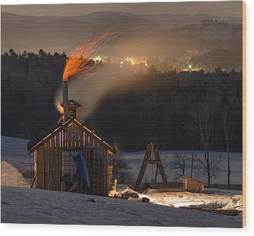 Sugaring View Wood Print by Tim Kirchoff