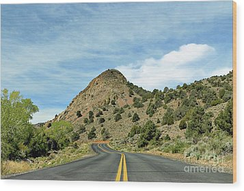 Wood Print featuring the photograph Sugarloaf Mountain In Six Mile Canyon by Benanne Stiens