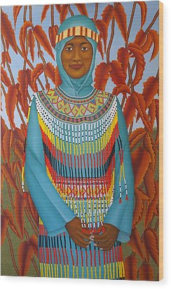 Sulawesi Girl Wood Print by Brian Leverton