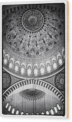Suleymaniye Ceiling Wood Print by John Rizzuto