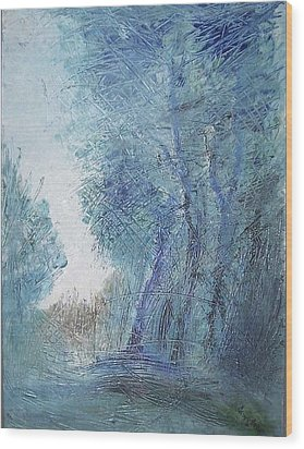 Sulle Soglie Del Bosco Wood Print by Michel Croteau