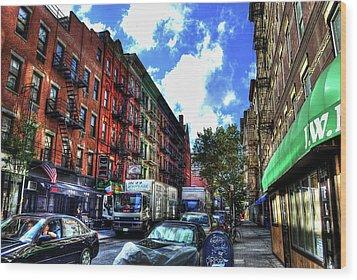 Sullivan Street In Greenwich Village Wood Print by Randy Aveille