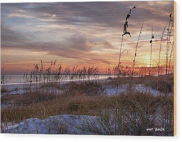 Sullivan's Island Sunset Wood Print