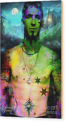 Sully Erna Wood Print by Diana Riukas