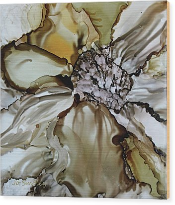 Wood Print featuring the painting Sultry Petals by Joanne Smoley