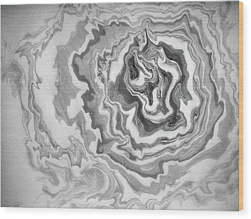 Wood Print featuring the painting suminagashi No.3 by Tom Druin