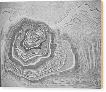 Wood Print featuring the painting suminagashi No.5 by Tom Druin