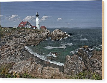 Summer Afternoon, Portland Headlight Wood Print